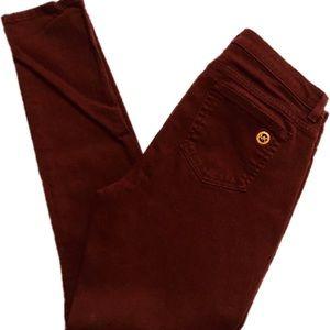 Michael Kors Pants & Jumpsuits - Michael Kors Burgundy Pants Size 8 Skinny